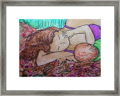 You Me And The Autumn Leafs Framed Print