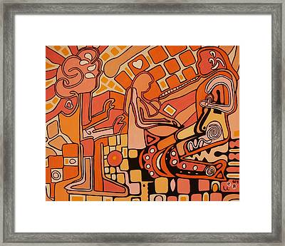 You Me And The Machine Framed Print by Barbara St Jean