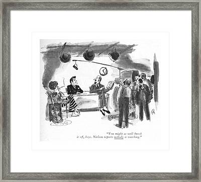 You Might As Well Knock Framed Print by Everett Opie