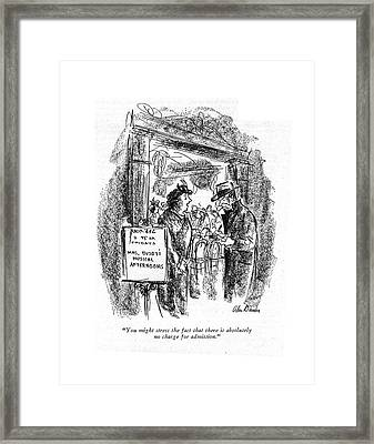 You Might Stress The Fact That Framed Print