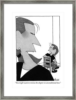 You Might Want To Review The Chapter Framed Print by William Haefeli