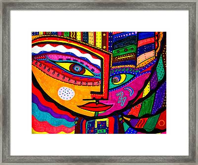 You Move Me - Face - Abstract Framed Print by Marie Jamieson