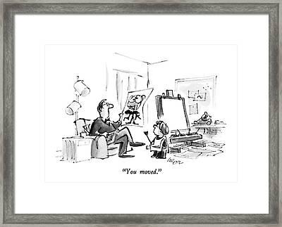 You Moved Framed Print