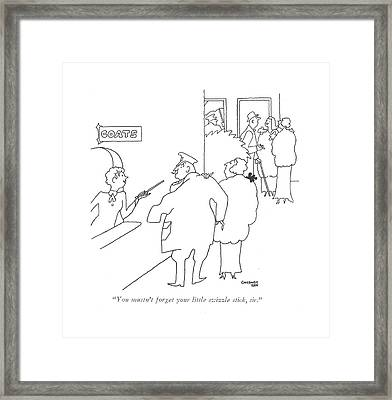 You Mustn't Forget Your Little Swizzle Stick Framed Print