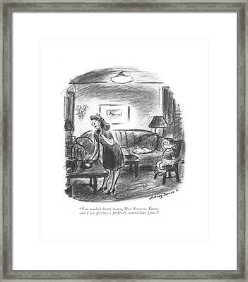You Needn't Hurry Home Framed Print by Whitney Darrow, Jr.