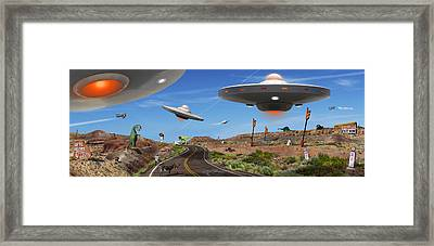 You Never Know . . . Panoramic Framed Print by Mike McGlothlen