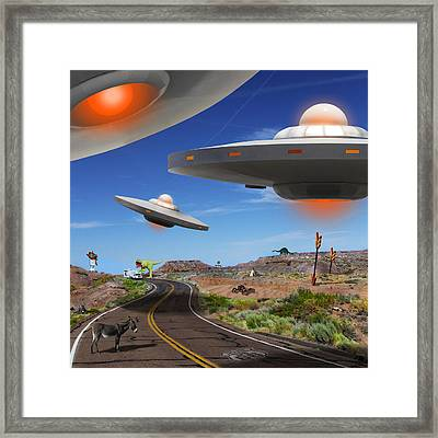 You Never Know What You Will See On Route 66 2 Framed Print by Mike McGlothlen