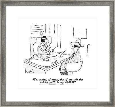 You Realize Framed Print by Arnie Levin