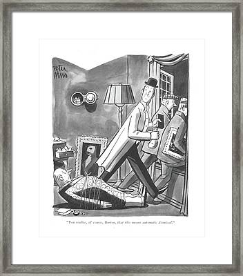 You Realize Framed Print by Peter Arno