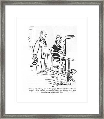 You Really Like Framed Print by Roberta Macdonald
