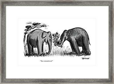 You Remembered! Framed Print