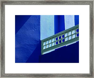 You Run Electron Blue  Framed Print by A Rey