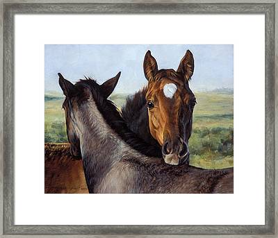 You Scratch Mine Framed Print by JQ Licensing