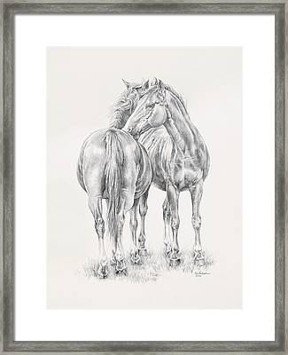 You Scratch My Back I'll Scratch Yours Framed Print by Kim Lockman