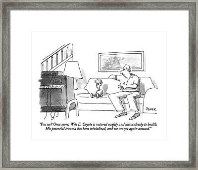 You See? Once More Framed Print by Jack Ziegler