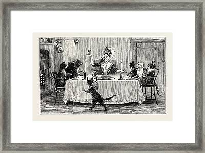 You See Them Arrived At Their Dames Welcome Door Framed Print by English School