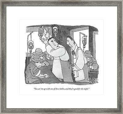 You Set 'em Up With One Of These Babies Framed Print