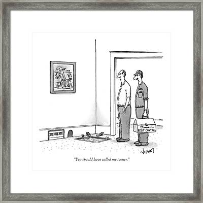 You Should Have Called Me Sooner Framed Print by Tom Cheney