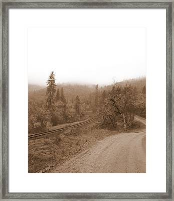 Framed Print featuring the photograph You Take The High Road And I Will Take The . . .  by Marie Neder