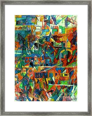 You Teach Understanding To Man Framed Print by David Baruch Wolk