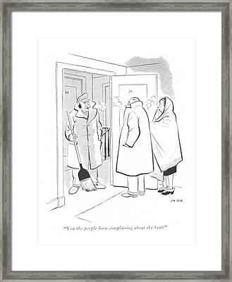 You The People Been Complaining About The Heat? Framed Print by Carl Rose