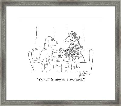 You Will Be Going On A Long Walk Framed Print by Arnie Levin