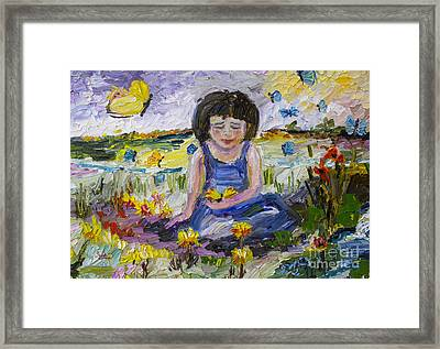 You Will Find Me By The Brook Where The Butterflies Live 2 Framed Print by Ginette Callaway