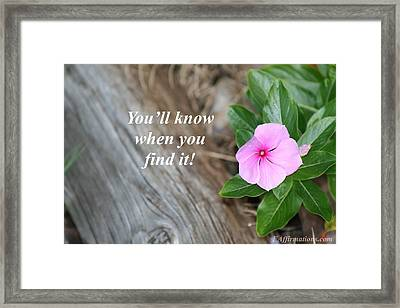 You Will Know Framed Print by Pharaoh Martin