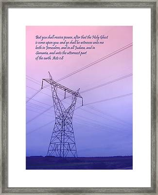 You Will Receive Power Framed Print by Kathy Clark