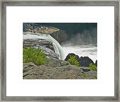Framed Print featuring the photograph Yough Falls Wat 217 by G L Sarti
