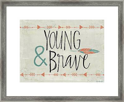 Young And Brave Framed Print by Katie Doucette