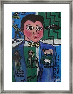 Young Apirana Ngata Framed Print by Hori Kiwara
