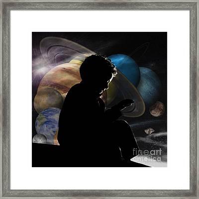 Young Astrophysicist - No.9188 Framed Print