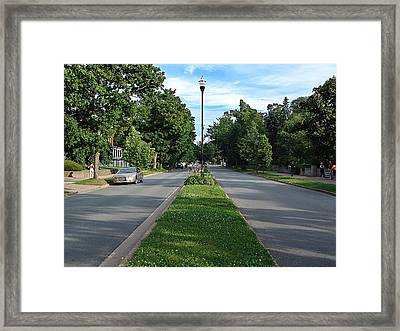 Young Avenue In Halifax Framed Print by Janet Ashworth