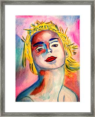 Young Ballerina Framed Print