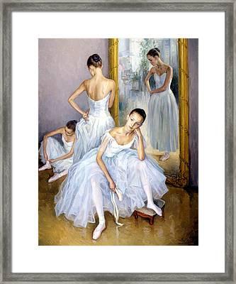 Young Ballerinas Framed Print