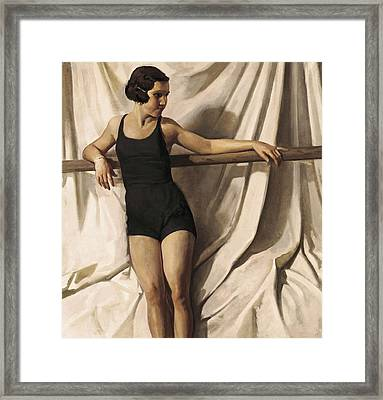 Young Bather. 1st Half 20th C. Artists Framed Print by Everett