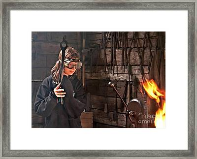 Young Blacksmith Girl Art Prints Framed Print