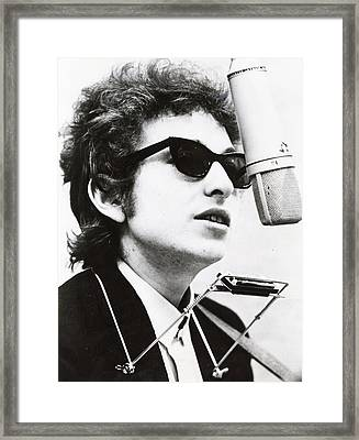 Young Bob Dylan Framed Print by Retro Images Archive