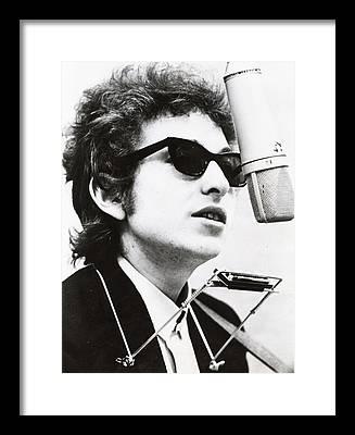 Music Rock Bob Dylan Framed Prints