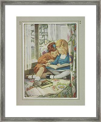 Young Boy And Girl Framed Print