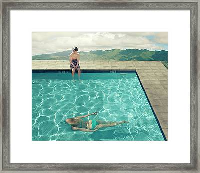 Young Boy Framed Print by Fang Tong