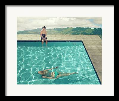 Pool Photographs Framed Prints