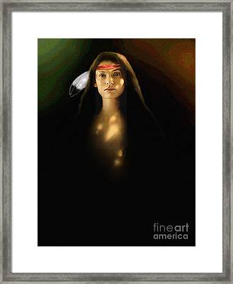 Young Brave Framed Print by Robert Foster