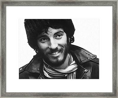 Young Bruce Springsteen Framed Print