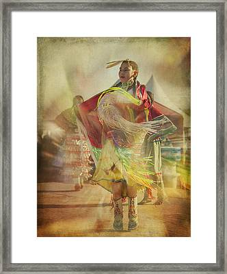 Young Canadian Aboriginal Dancer Framed Print