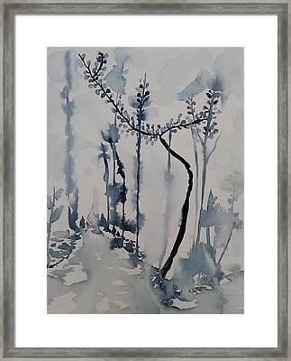 Young Chestnut In Blue Framed Print by Carolina Nunez Diaz