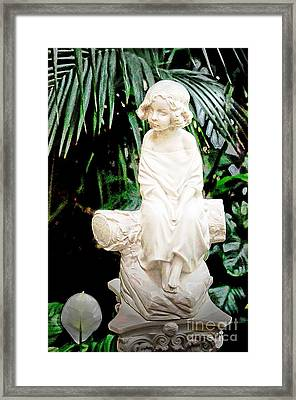 Young Child Statue Framed Print