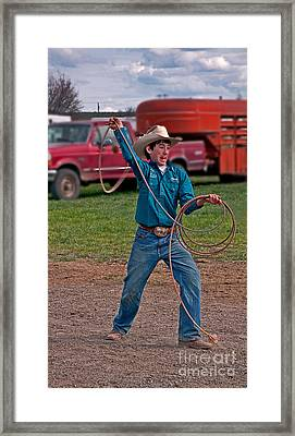 Young Cowboy  Framed Print by Valerie Garner