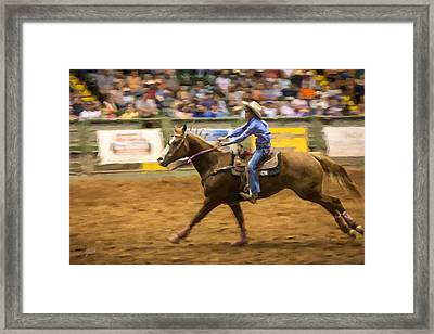 Young Cowgirl Framed Print